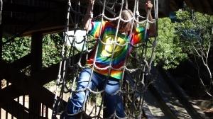 The climbing net.