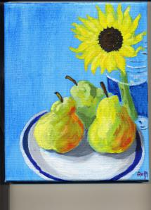 Sunflower with Pears