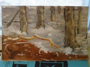 Scumbled trees