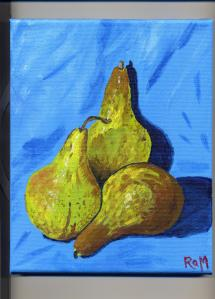 Three Bosc Pears
