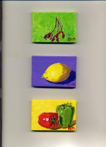 Three More Tiny Paintings