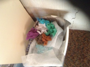 Colorful lint