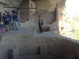 Our wonderful tour guide at Balcony House in Mesa Verde National Park