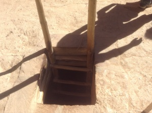 Kiva Ladder, from outside the Kiva