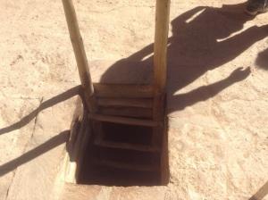 Kiva Ladder, from outside the Kiva