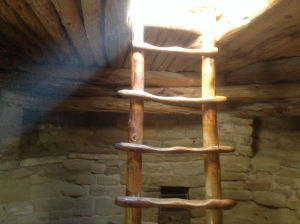 Kiva ladder, from inside the Kiva