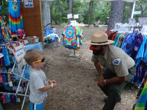 My Grandson Making Friends with a Park Ranger